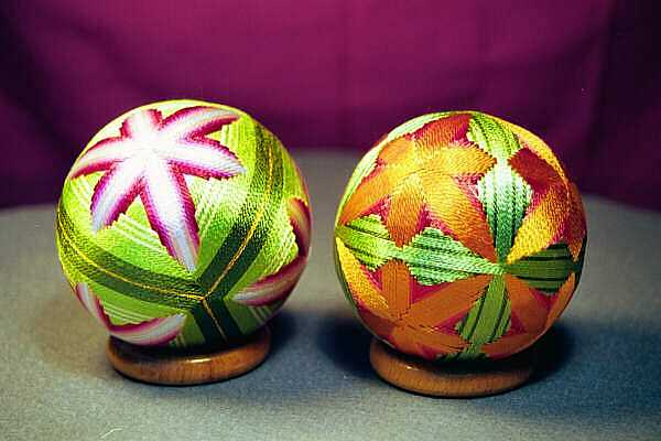 Японские шары темари мастер класс сделай сам #13